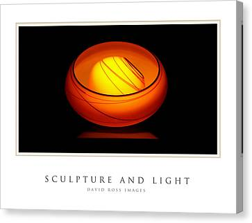 Sculpture And Light Gallery Series Collection Canvas Print by David Ross