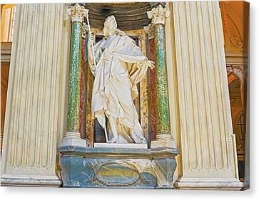 Sculpture In Basilica Of Saint John Lateran In Rome, Italy. Canvas Print by Marek Poplawski