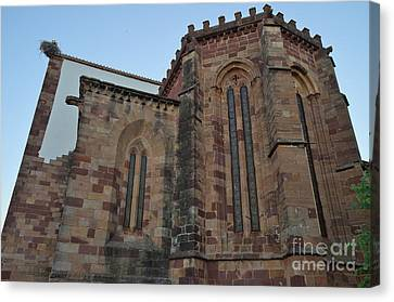 Medieval Canvas Print - Se Church Side View In Silves by Angelo DeVal
