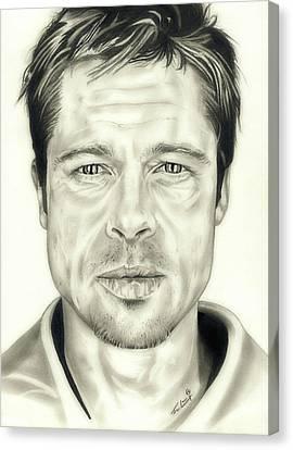 Year Of The Monkey Canvas Print - Se7en Brad Pitt by Fred Larucci