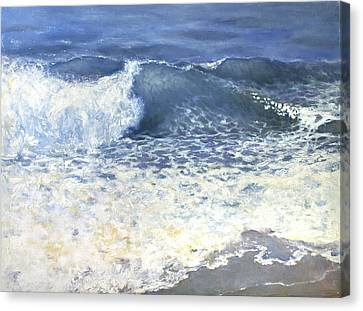 Canvas Print featuring the painting Sea 1 by Valeriy Mavlo
