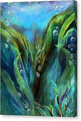 Sea Abstract 1 Canvas Print by Carol Cavalaris