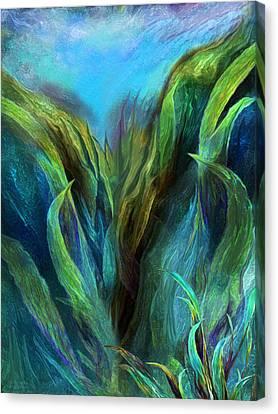 Sea Abstract 2 Canvas Print by Carol Cavalaris