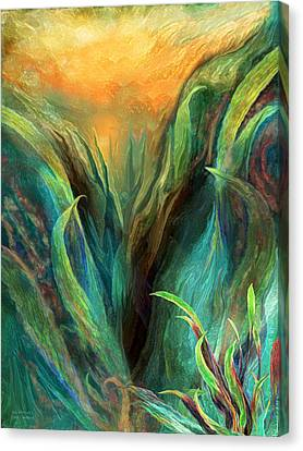 Sea Abstract 3 Canvas Print by Carol Cavalaris