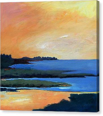 Canvas Print featuring the painting Sea And Sky by Gary Coleman