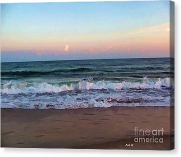 Canvas Print featuring the photograph Sea And Sky by Roberta Byram