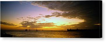Sea At Sunset, Key West, Monroe County Canvas Print by Panoramic Images