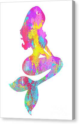 Ariel  The Little Mermaid Canvas Print by Prar Kulasekara