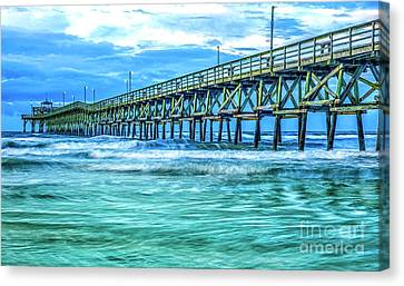 Sea Blue Cherry Grove Pier Canvas Print