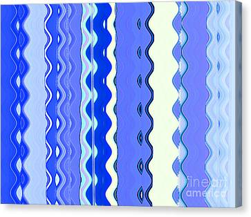 Sea Blue Wave Tapestry Canvas Print