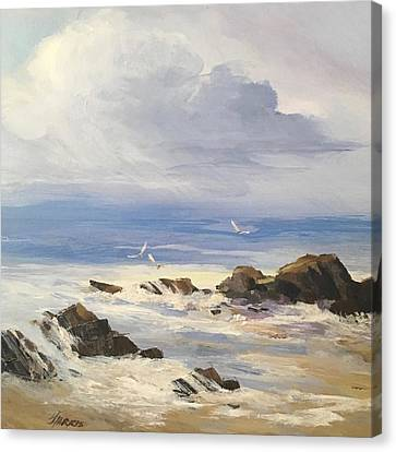 Canvas Print featuring the painting Sea Breeze by Helen Harris