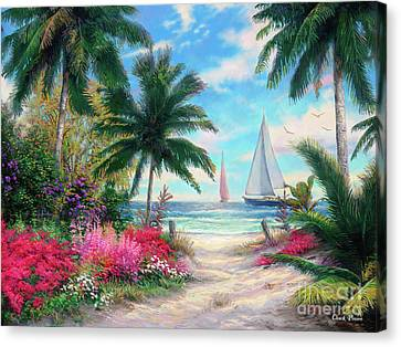 Tropical Fish Canvas Print - Sea Breeze Trail by Chuck Pinson