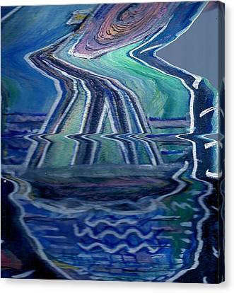 Sea Cruise Gone Wild Canvas Print by Anne-Elizabeth Whiteway