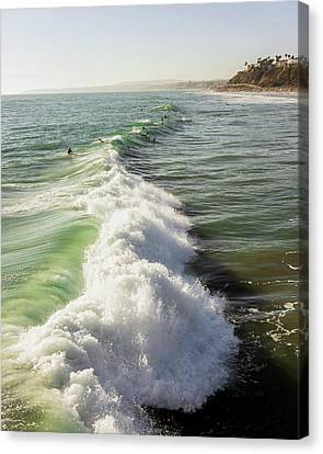 Sea Divide Canvas Print by Aron Kearney