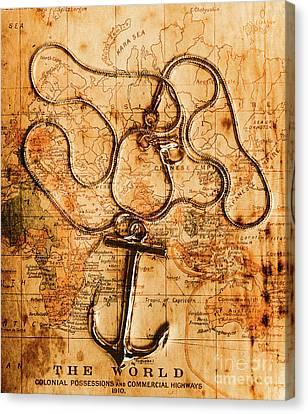 Sea Exploration Artwork Canvas Print