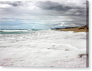 Canvas Print featuring the photograph Sea Foam And Clouds By Kaye Menner by Kaye Menner