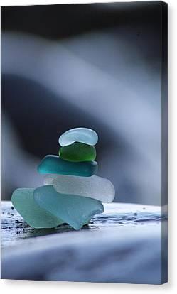 Sea Glass Cairn Canvas Print