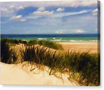 Canvas Print featuring the photograph Sea Grass by Sandy MacGowan