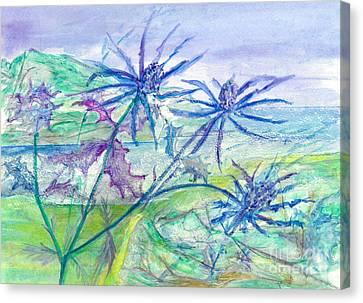 Sea Holly Canvas Print by Veronica Rickard
