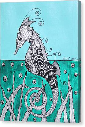 Sea Horse Canvas Print by Shachi Srivastava