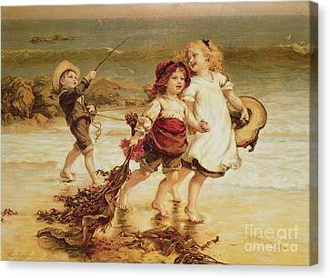 Sea Horses Canvas Print by Frederick Morgan