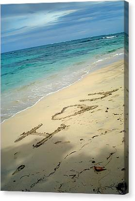Sea I Love You Canvas Print