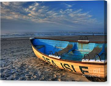 Sea Isle City Lifeguard Boat Canvas Print by John Loreaux