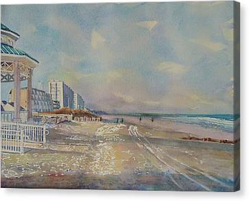 Sea Isle City New Jersey Canvas Print by Patty Kay Hall