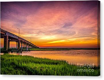 Sea Isle Sunset Canvas Print by Nick Zelinsky
