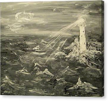 Sea Lighthouse  Canvas Print by Carmen Kolcsar