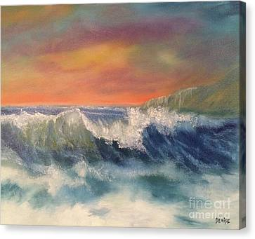 Canvas Print featuring the painting Sea Mist by Denise Tomasura