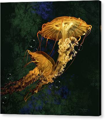 Sea Nettle Jellies Canvas Print by Thanh Thuy Nguyen