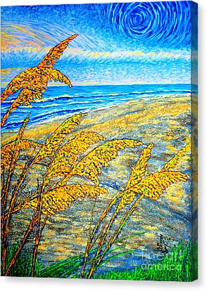 Sea Oats Dual#2 Canvas Print