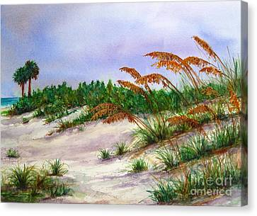 Sea Oats In The Dunes Canvas Print