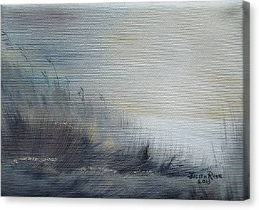 Canvas Print featuring the painting Sea Oats by Judith Rhue