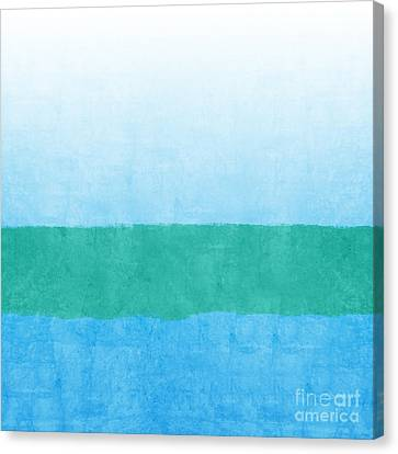 Beach Canvas Print - Sea Of Blues by Linda Woods