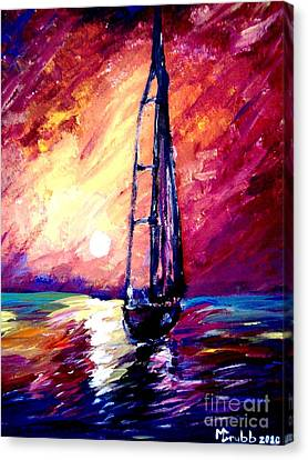 Sea Of Colors Canvas Print by Michael Grubb