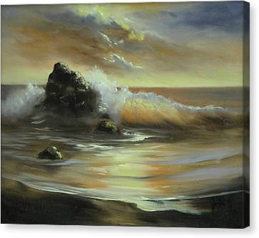 Canvas Print featuring the painting Sea Of Gold by Joni McPherson