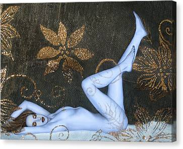 Sea Of Sensuality - Self Portrait Canvas Print