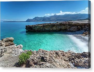 Sea Of Sicily, Macari Canvas Print