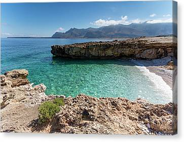 Sea Of Sicily, Macari II Canvas Print