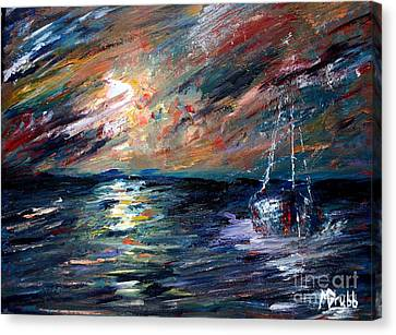 Sea Of Storms Canvas Print by Michael Grubb