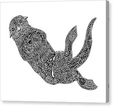 Sea Otter Canvas Print by Carol Lynne