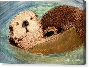 Sea Otter Canvas Print by Jacqueline Barden