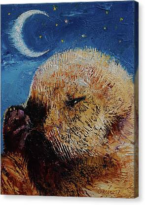 Otter Canvas Print - Sea Otter Pup by Michael Creese