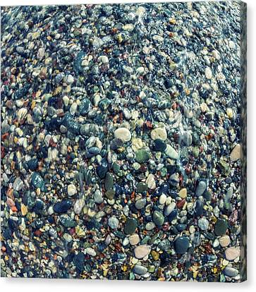 Sea Pebbles2 Canvas Print by Stelios Kleanthous