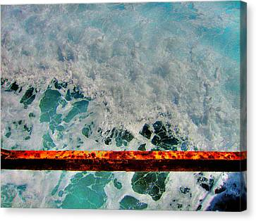 Sea. Rusty Iron And Shock Wave.. Canvas Print by Andy Za