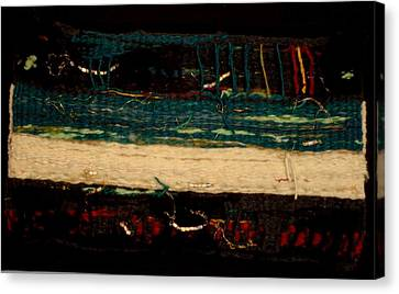 Sea Sand Deep Mystery Canvas Print by Aneesha Parrone