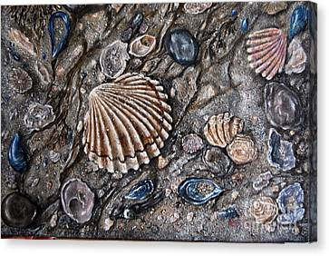 Sea Shore Canvas Print by Avril Brand