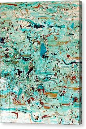 Canvas Print featuring the mixed media Sea-splash by Sherri  Of Palm Springs
